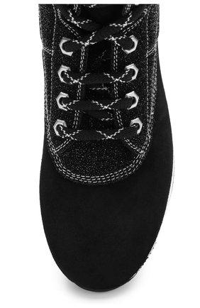 Высокие замшевые кроссовки на шнуровке Hogan черные | Фото №5