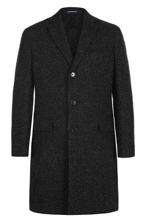 Мужской шерстяное однобортное пальто RALPH LAUREN темно-серого цвета, арт. 798667829 | Фото 1