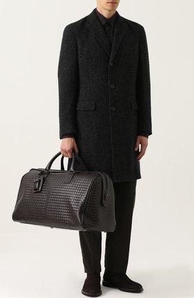 Мужской шерстяное однобортное пальто RALPH LAUREN темно-серого цвета, арт. 798667829 | Фото 2