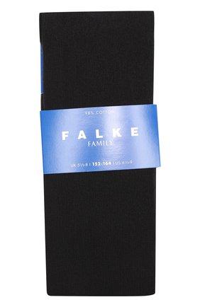 Детские колготки из хлопка FALKE черного цвета, арт. 13645 | Фото 1