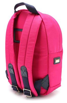 Текстильный рюкзак с принтом Dolce & Gabbana розового цвета | Фото №2