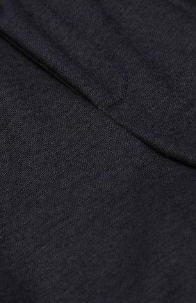 Детские шерстяные брюки прямого кроя с лампасами Dolce & Gabbana темно-синего цвета | Фото №3