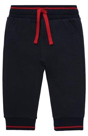 Хлопковые джоггеры с контрастной отделкой Dolce & Gabbana темно-синего цвета | Фото №1