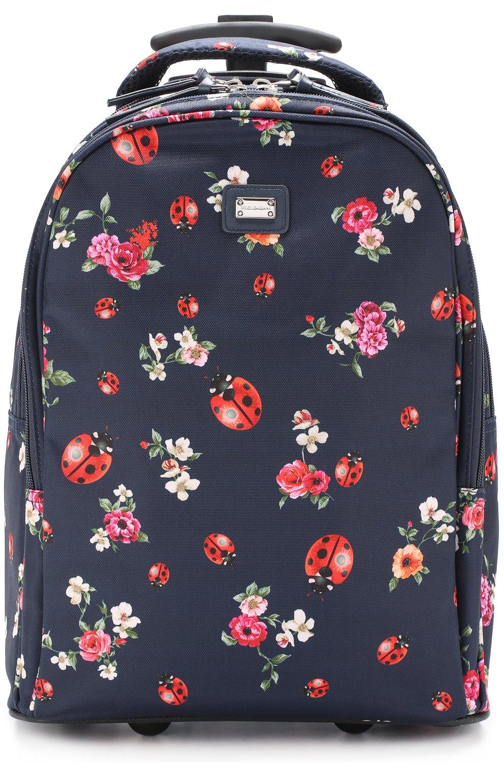 Текстильный чемодан с принтом   Фото №1