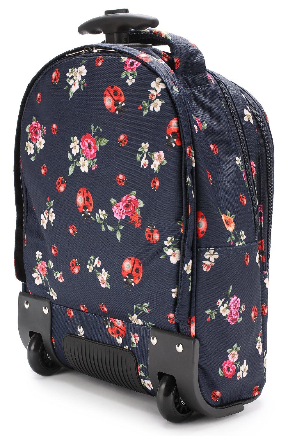 Текстильный чемодан с принтом Dolce & Gabbana синего цвета   Фото №2