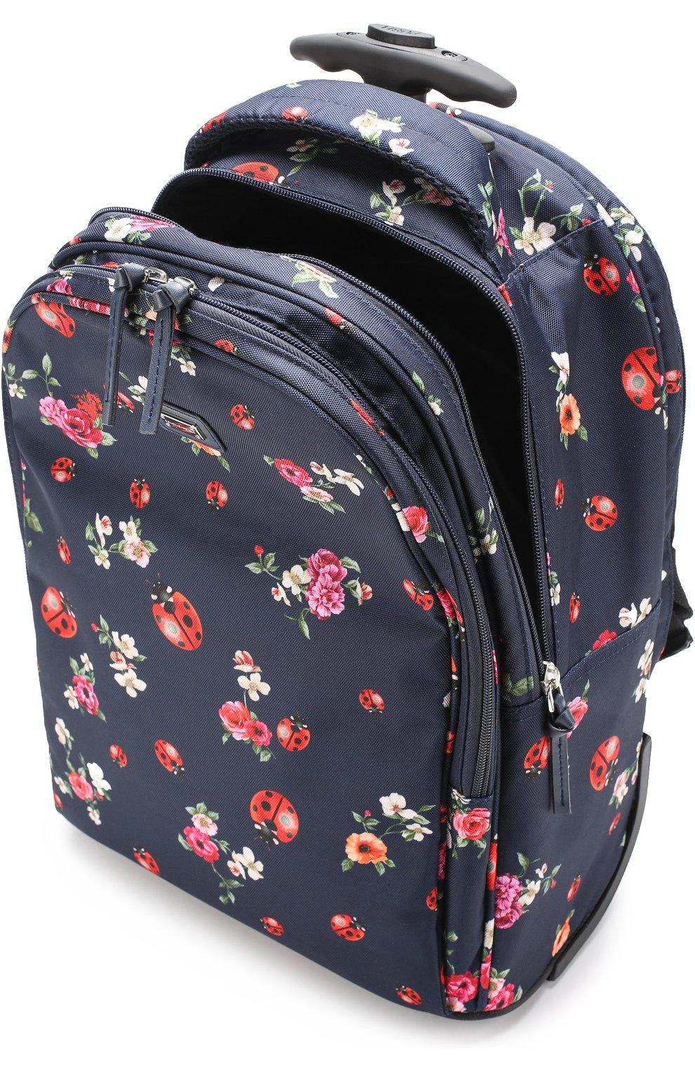 Текстильный чемодан с принтом Dolce & Gabbana синего цвета   Фото №3
