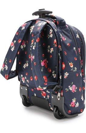 Текстильный чемодан с принтом Dolce & Gabbana синего цвета   Фото №4
