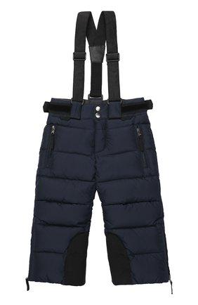 Стеганые пуховые брюки с подтяжками | Фото №1