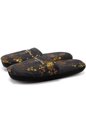 Парчовые домашние туфли | Фото №1