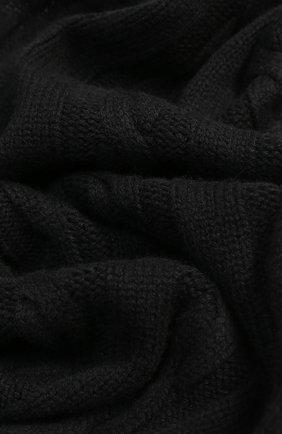 Шарф фактурной вязки из кашемира Kashja` Cashmere черный   Фото №1