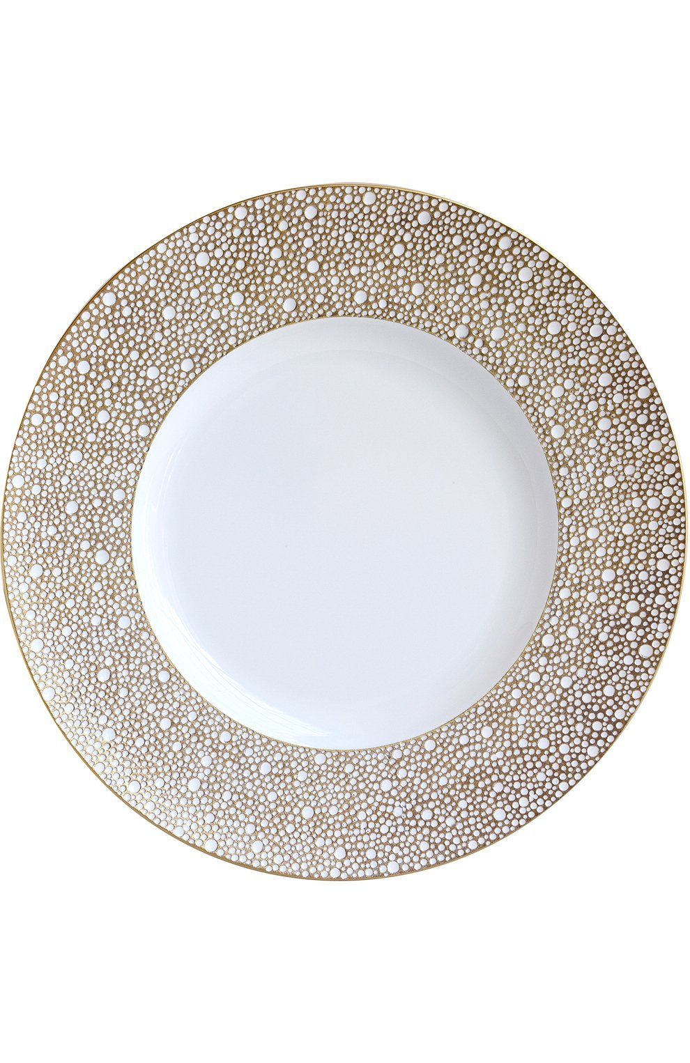 Мужского сервировочная тарелка ecume mordore BERNARDAUD золотого цвета, арт. 1721/20248   Фото 1