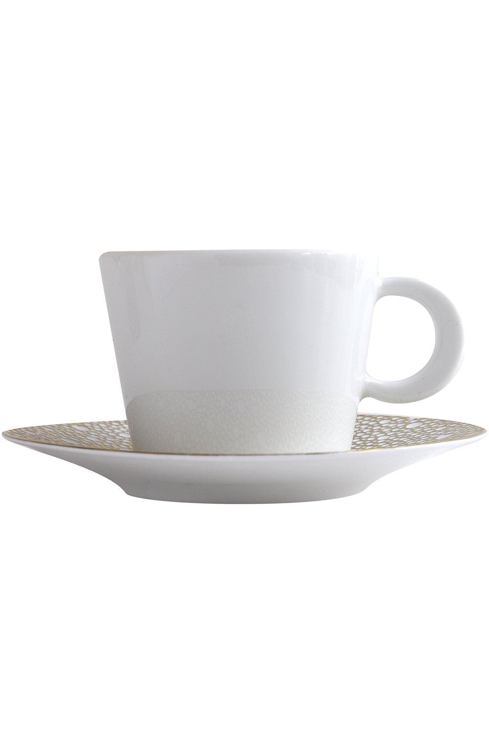 Мужского чайная чашка с блюдцем ecume mordore BERNARDAUD белого цвета, арт. 1721/20454 | Фото 1