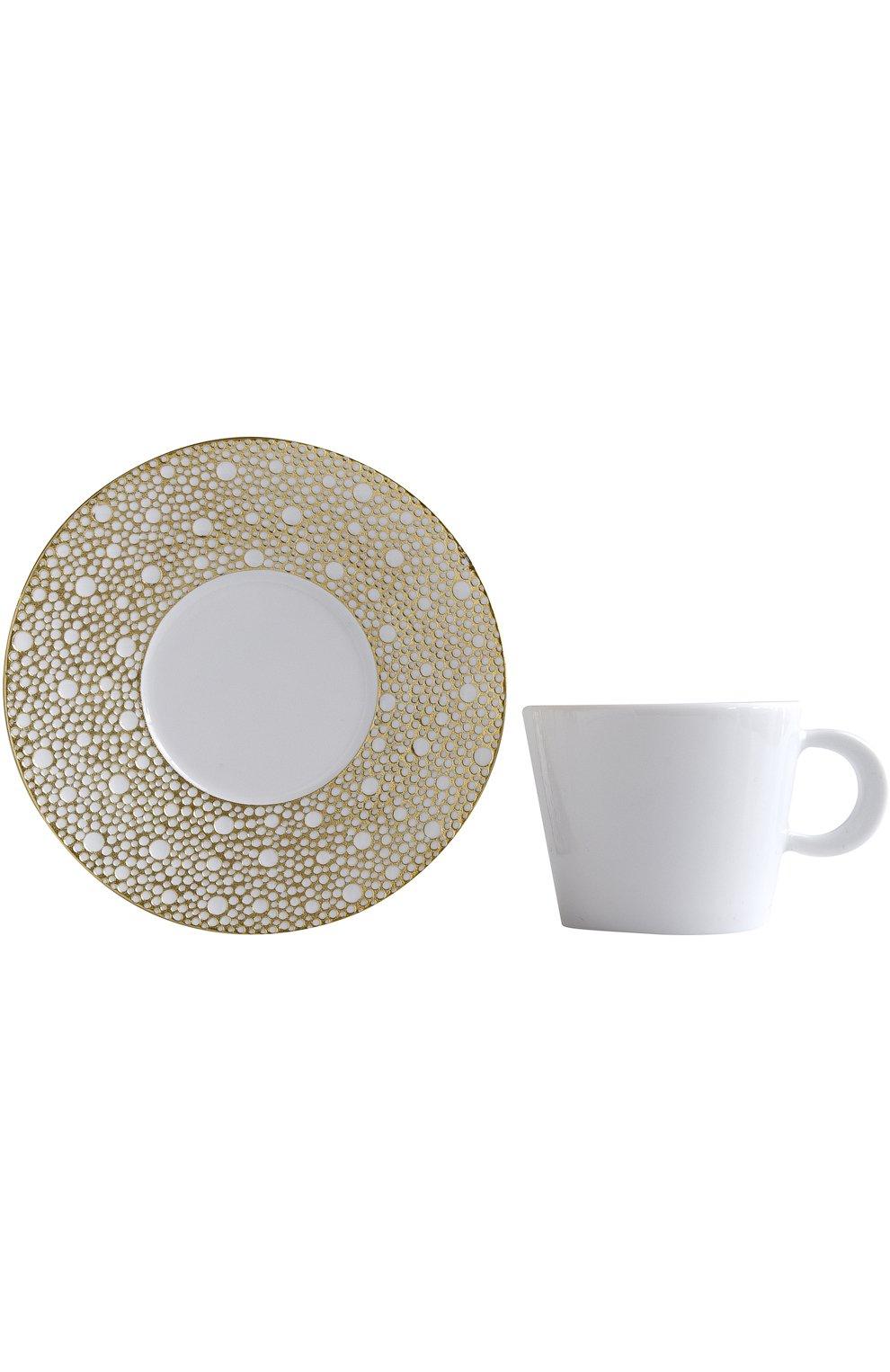 Мужского чайная чашка с блюдцем ecume mordore BERNARDAUD белого цвета, арт. 1721/20454 | Фото 2