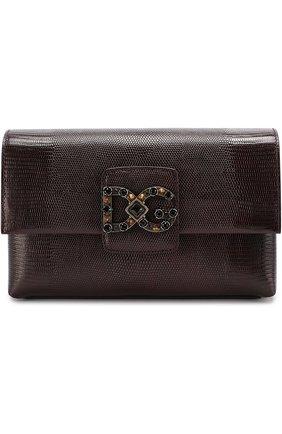Сумка DG Millennials Dolce & Gabbana бордовая цвета   Фото №1