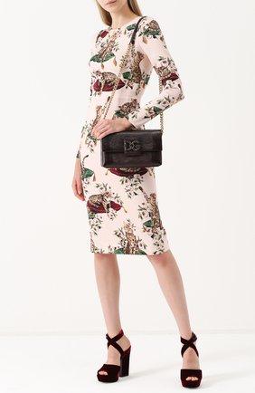 Сумка DG Millennials Dolce & Gabbana бордовая цвета   Фото №2