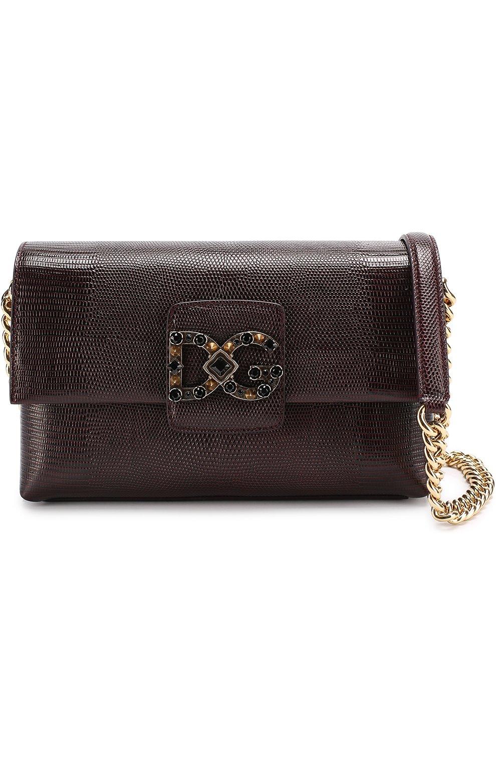 Сумка DG Millennials Dolce & Gabbana бордовая цвета   Фото №5