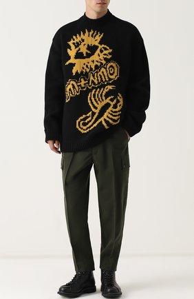 Шерстяной свитер свободного кроя | Фото №2