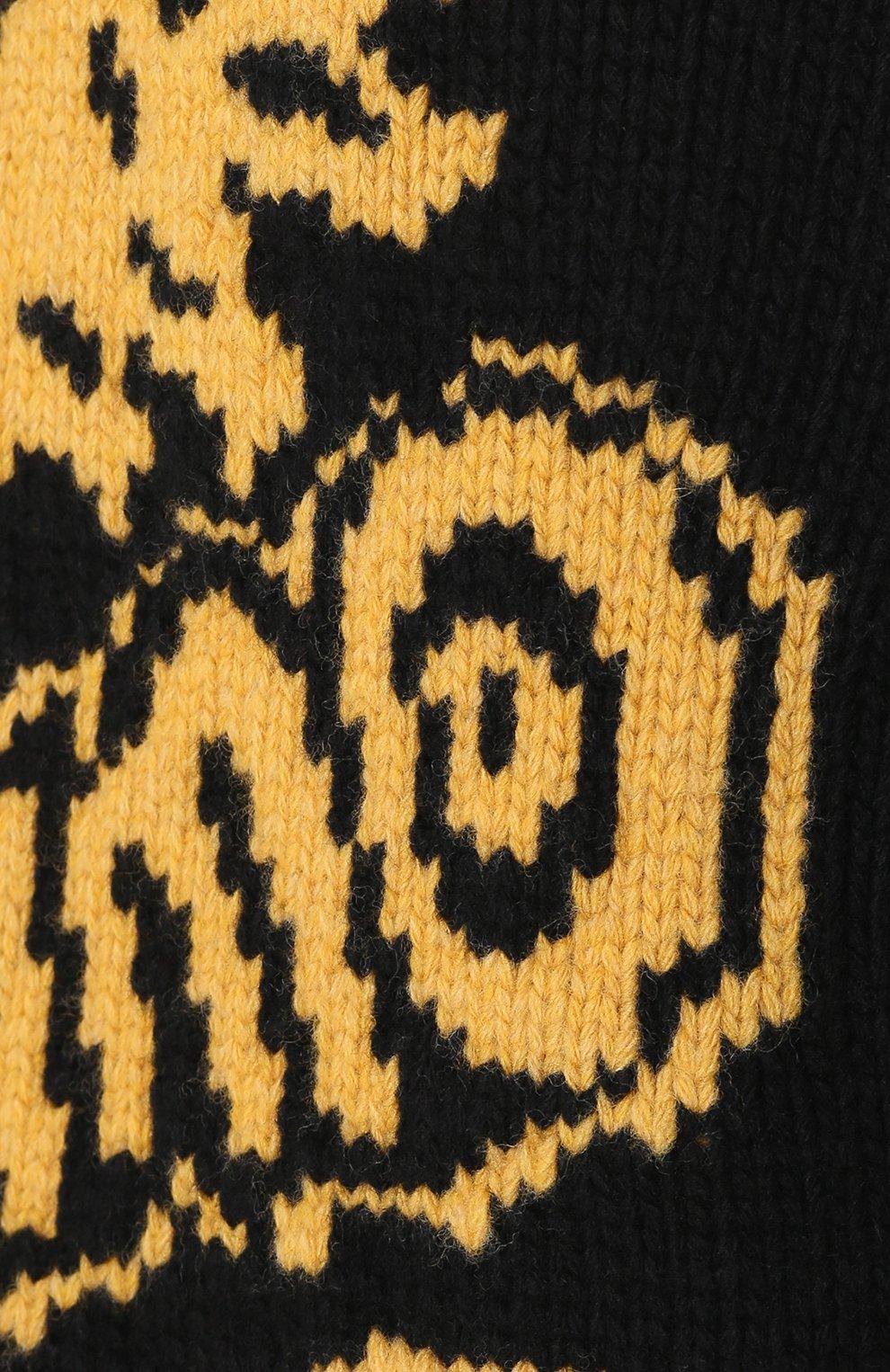 Шерстяной свитер свободного кроя | Фото №5