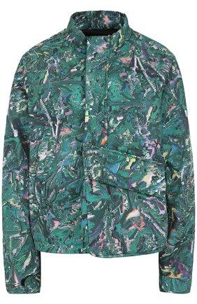 Куртка свободного кроя с принтом   Фото №1