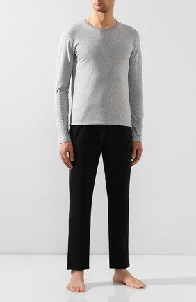 Мужские хлопковый лонгслив HANRO серого цвета, арт. 075053 | Фото 2