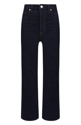 Укороченные расклешенные джинсы Stella Jean синие | Фото №1