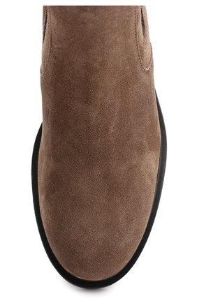 Замшевые челси на массивной подошве Hogan коричневые | Фото №5
