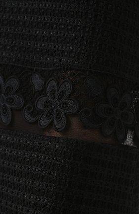 Кружевная юбка-миди с широким поясом Dolce & Gabbana черная | Фото №5