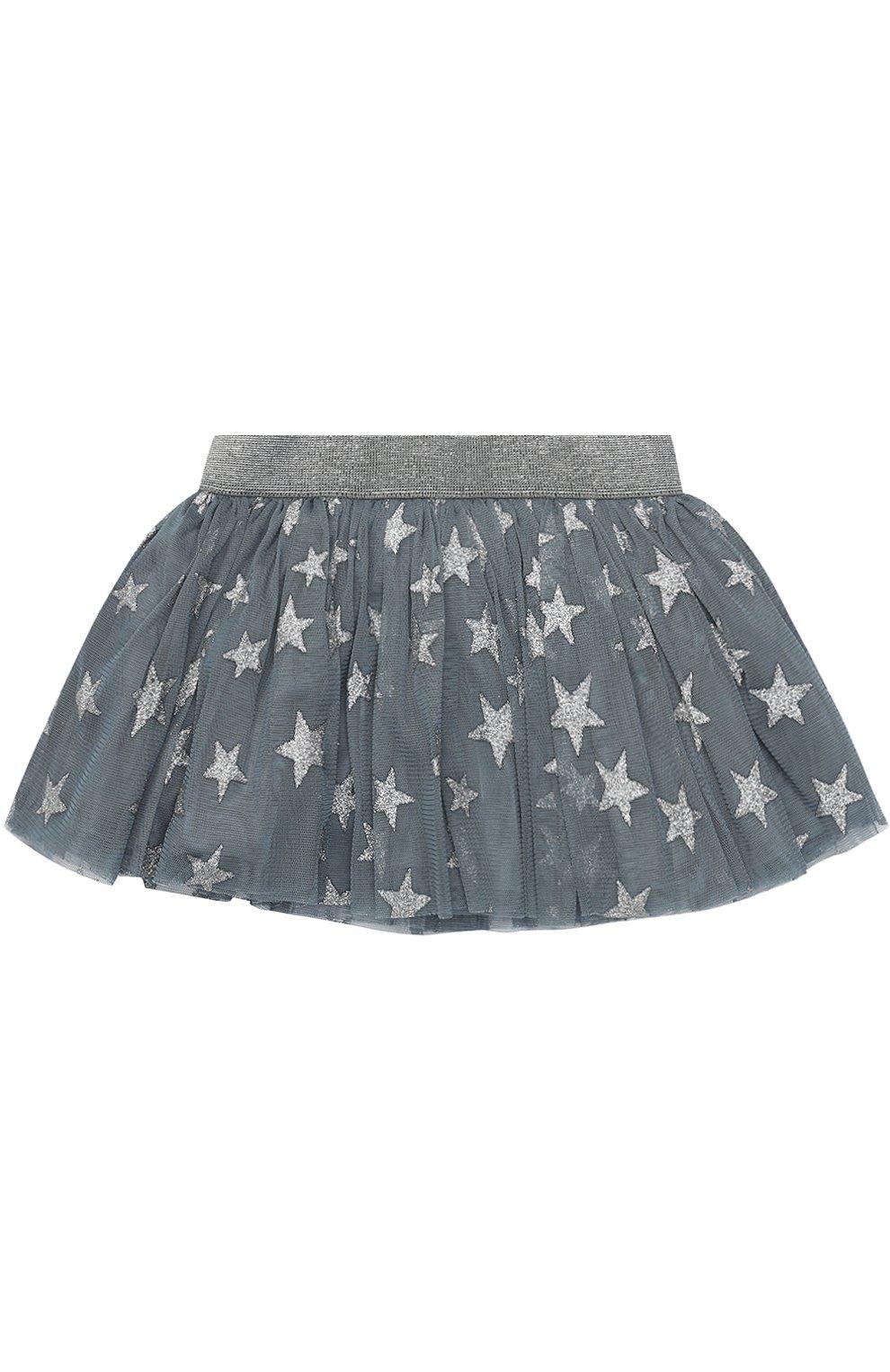 Мини-юбка с металлизированным принтом в виде звезд | Фото №2