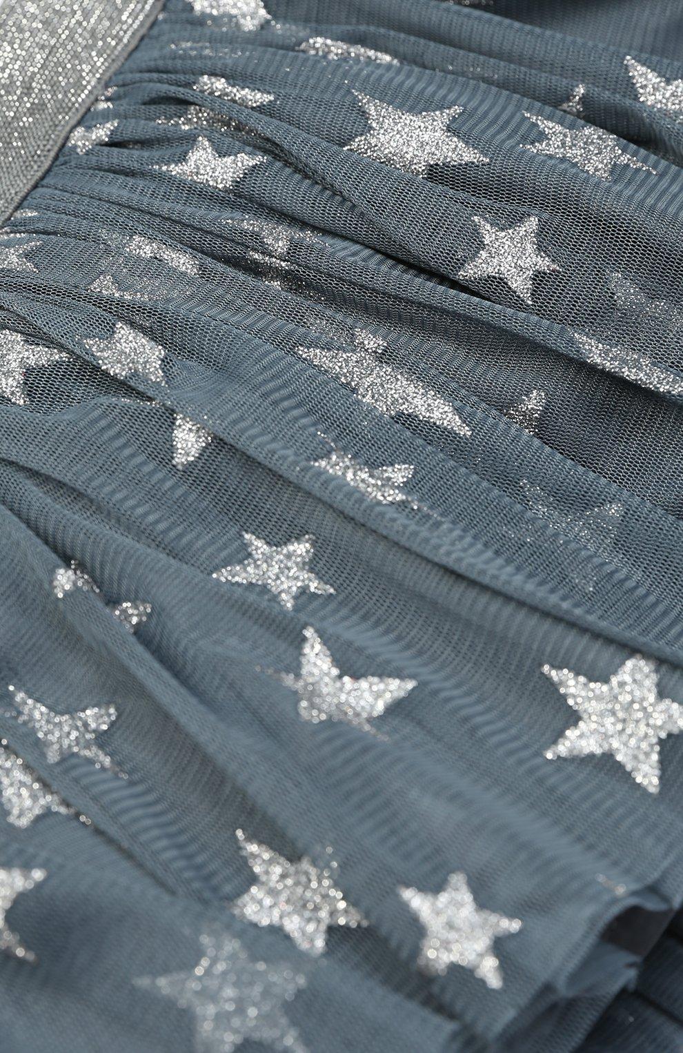 Мини-юбка с металлизированным принтом в виде звезд | Фото №3