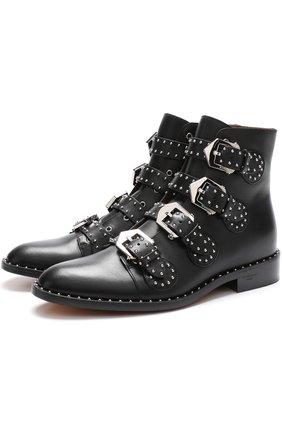 Кожаные ботинки Elegant Studs с заклепками | Фото №1