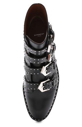 Женские кожаные ботинки elegant studs с заклепками GIVENCHY черного цвета, арт. BE08143004   Фото 5