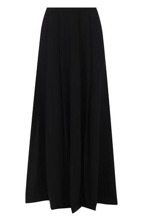 Шелковая юбка-макси со складками | Фото №1