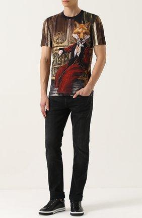 Хлопковая футболка с принтом Dolce & Gabbana разноцветная | Фото №2