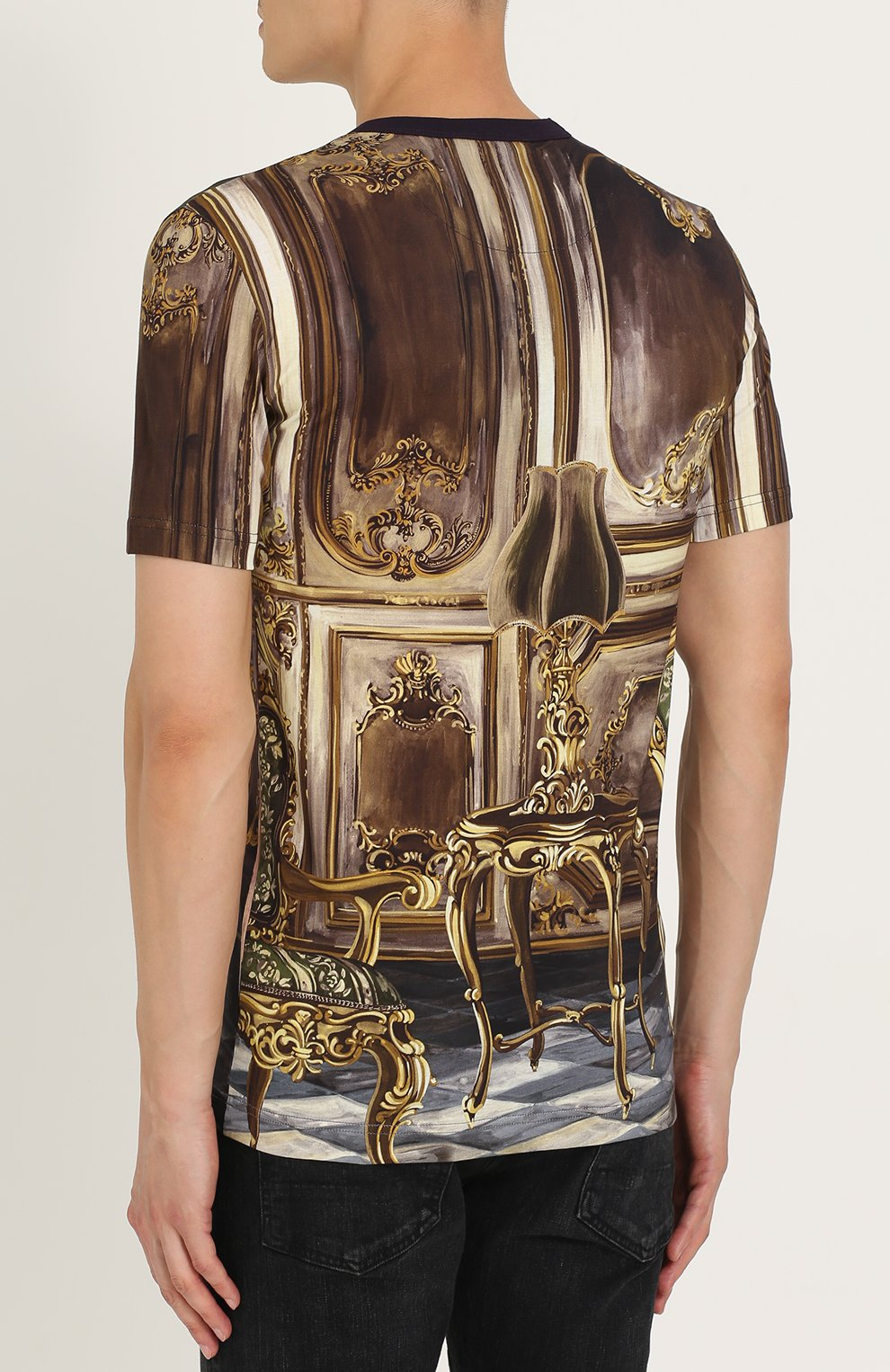 Хлопковая футболка с принтом Dolce & Gabbana разноцветная | Фото №4