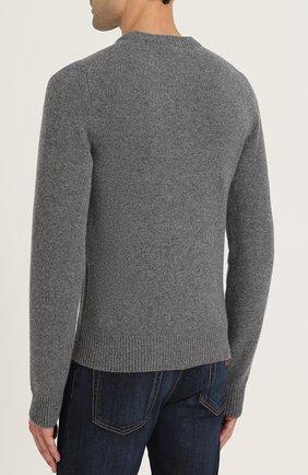 Шерстяной свитер с принтом Dolce & Gabbana светло-серый   Фото №4