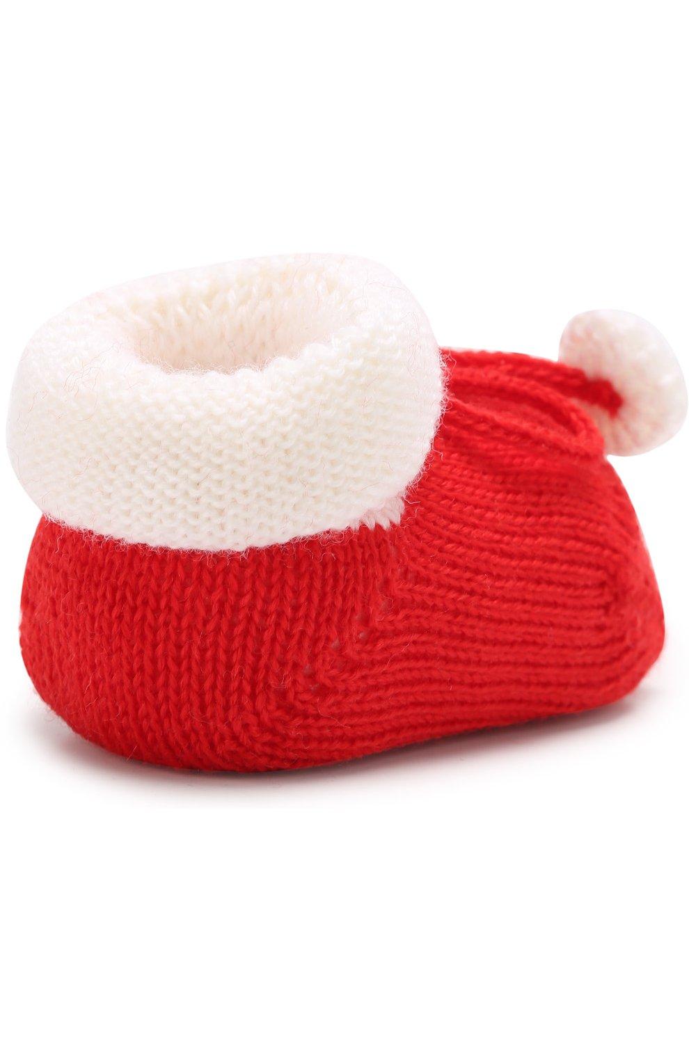 Детские вязаные носки с контрастной отделкой CATYA белого цвета, арт. 721535   Фото 3