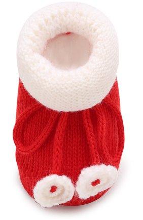 Детские вязаные носки с контрастной отделкой CATYA белого цвета, арт. 721535   Фото 4