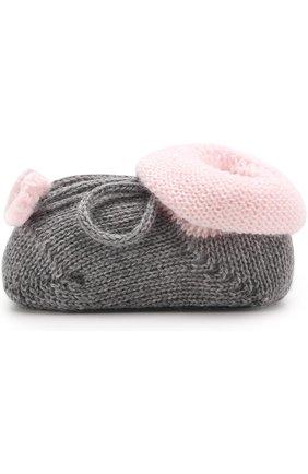 Вязаные носки с контрастной отделкой   Фото №2