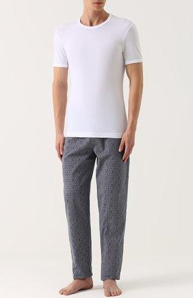Хлопковая футболка с круглым вырезом Dolce & Gabbana белая   Фото №2