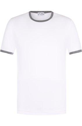Футболка с круглым вырезом Dolce & Gabbana белая | Фото №1