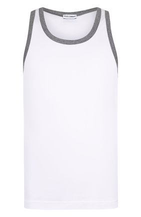 Майка с круглым вырезом Dolce & Gabbana белая | Фото №1