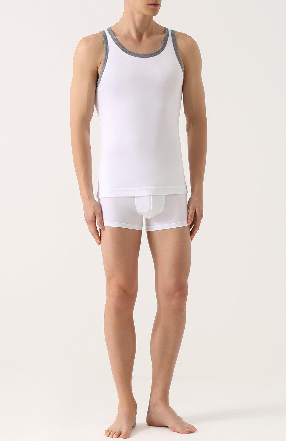 Майка с круглым вырезом Dolce & Gabbana белая | Фото №2