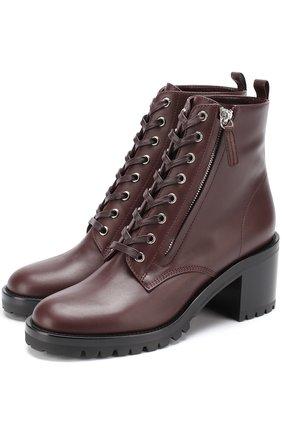 Кожаные ботинки Croft на шнуровке и с молнией