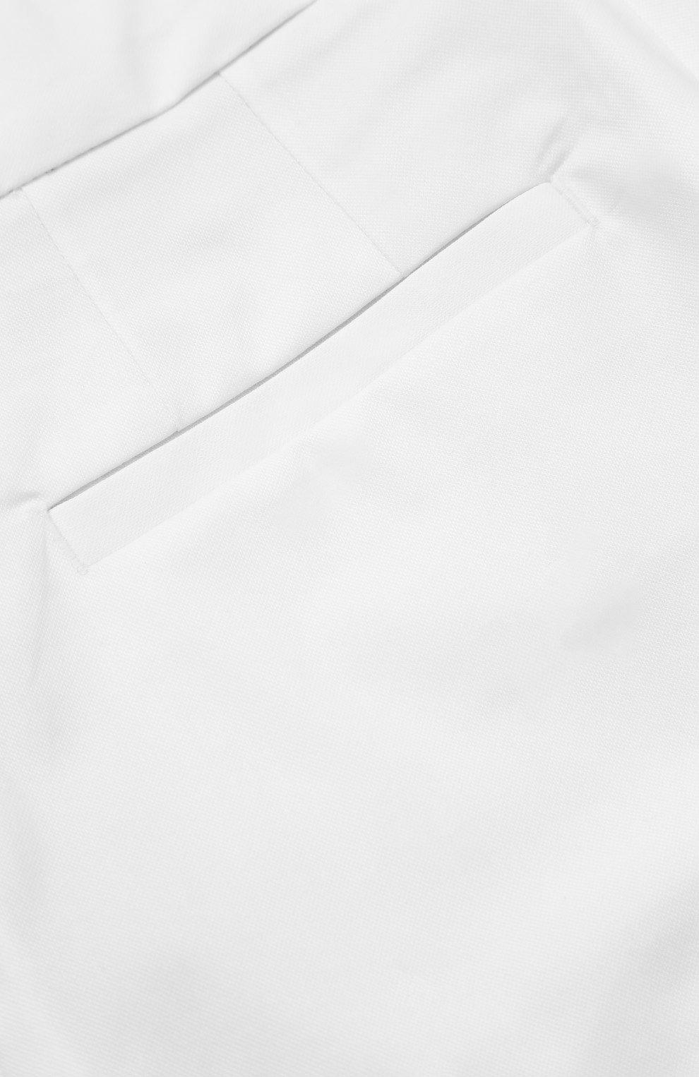 Детские шорты из эластичного хлопка прямого кроя Dolce & Gabbana белого цвета | Фото №3