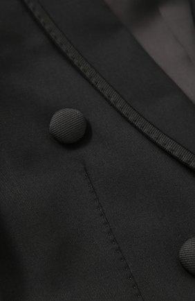 Шерстяной фрак с отделкой из шелка | Фото №6