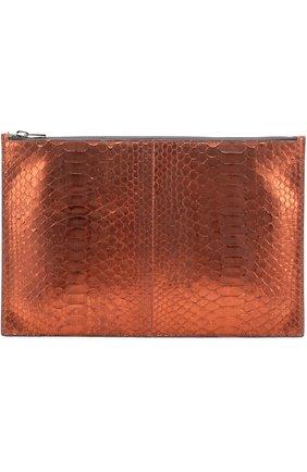 Женские папка из кожи питона TOM FORD оранжевого цвета, арт. S0242R-P47 | Фото 1