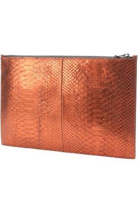 Женские папка из кожи питона TOM FORD оранжевого цвета, арт. S0242R-P47 | Фото 2