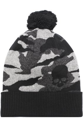 Шерстяная шапка с помпоном  | Фото №1