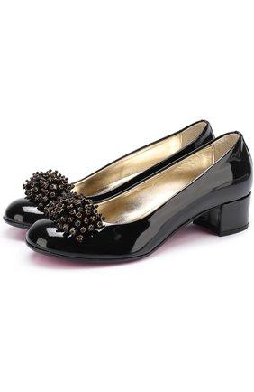 Лаковые туфли с декором | Фото №1
