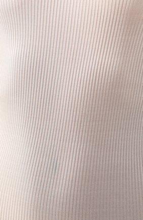 Женская сорочка DANA PISARRA кремвого цвета, арт. J0/SE40 | Фото 5 (Материал внешний: Шелк; Рукава: Короткие; Длина Ж (юбки, платья, шорты): До колена; Статус проверки: Проверена категория)